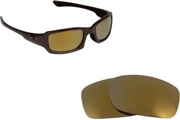New SEEK OPTICS Replacement Lenses Oakley FIVES 3.0 - Black Gold