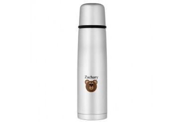 Zachary - Teddy Bear Large Thermos Bottle Baby Large Thermosreg; Bottle by CafePress