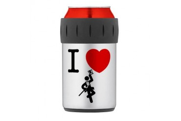 Tap Dancing Thermos Can Cooler Music Thermosreg; Can Cooler by CafePress