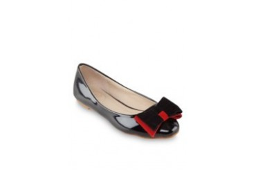 Shawna Two Colour Bow Flats