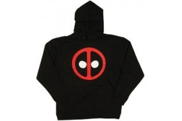Marvel Comics Deadpool Logo Pullover Hooded Sweatshirt