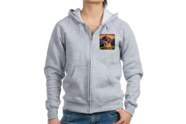 Dachshund Meadow Dachshund Women's Zip Hoodie by CafePress