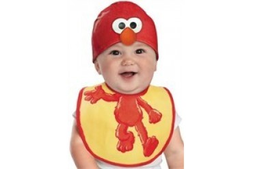 Sesame Street Elmo Bib and Beanie Hat Infant Costume