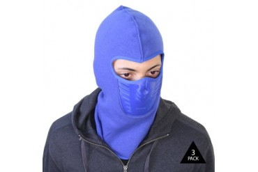 3-Pack Unisex Fleece-Lined Ski Masks