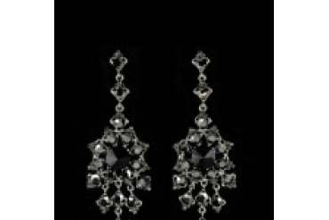 Jim Ball Earrings - Style CE543-Jet-Hematite