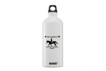 Cute Thoroughbred Mom Pets Sigg Water Bottle 0.6L by CafePress