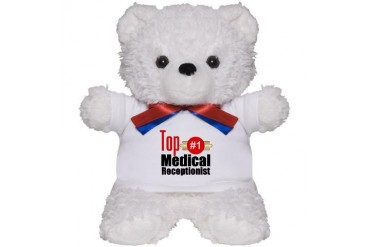 Top Medical Receptionist Occupations Teddy Bear by CafePress