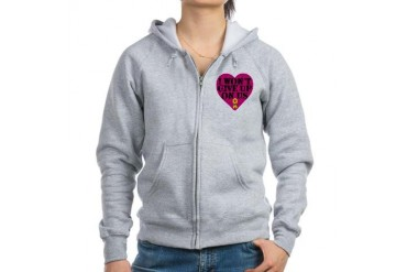 I Won't Give Up: Air Force Air force Women's Zip Hoodie by CafePress