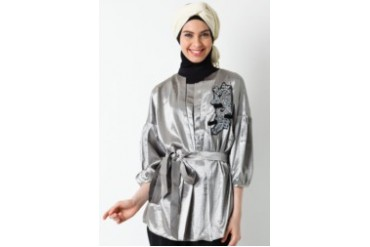 Sofie Design Blouse Bordir Payet Silver