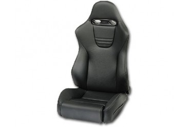 Recaro Sport Topline Right Seat Black LeatherBlack Suede Black Logo