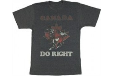 Rocky and Bullwinkle Canada Dudley Do-Right and Horse T-Shirt Sheer