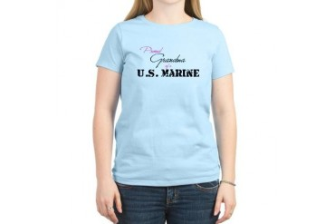 Proud Grandma of a U.S. Marin Women's Light T-Shir