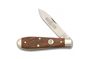 Queen Tear-Drop Linerlock #6L with Curly Zebra Wood Handle