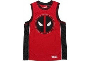 Marvel Comics Deadpool Embroidered Logo 91 Basketball Jersey