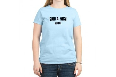 Santa Rosa Rocks California Women's Light T-Shirt by CafePress