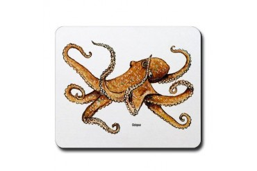 Octopus Ocean Life Animals Mousepad by CafePress
