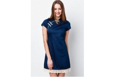Denim Cheongsam Dress