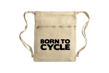 BORN TO CYCLE Sack Pack Cycling Cinch Sack by CafePress
