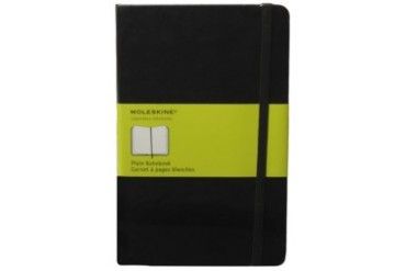 Classic Hard Plain Notebook Black Large
