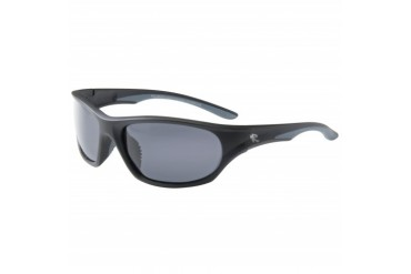 Tesla-matte Black Frame With Grey Rubber With Smoke Polarized Lens