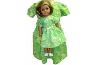 Matching Girl and Doll Cotton Dress Child Size 5