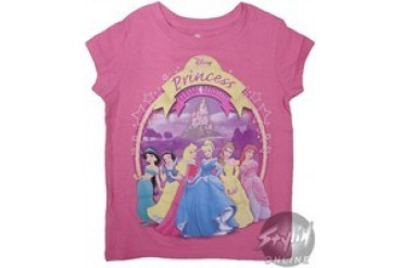 Disney Princess Classic Beauties Pink Girls Youth T-Shirt