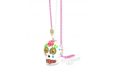Sugar Skull Long Necklace