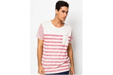Selected Reversy Striped Round Neck T-Shirt