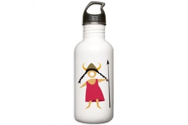 Hildegarde.png Musical Stainless Water Bottle 1.0L by CafePress