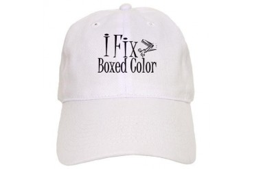 I Fix Boxed Color Hair stylist Cap by CafePress
