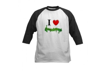 I heart Goosebumps Kids Baseball Jersey