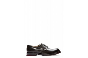 Jil Sander Black Leather Talco Derbys