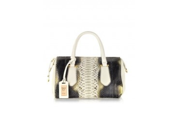 Chic Python Leather Satchel