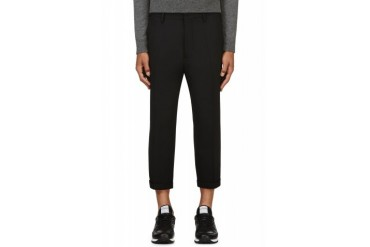 Dsquared2 Black Cropped Wool Trousers