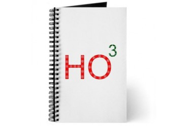 Ho To The Third Power Geek Journal by CafePress
