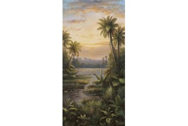 Tropical Lagoon II Poster Print by Montoya (10 x 20)