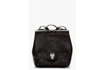 Proenza Schouler Black Etched Leather Python pattern Backpack