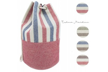 Eshma Mardini Striped Canvas Beach Bag - BackPack - Inside Lining