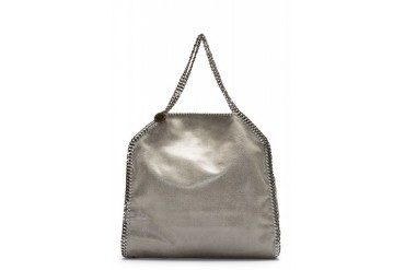 Stella Mccartney Grey Falabella Shaggy Deer Big Tote Bag