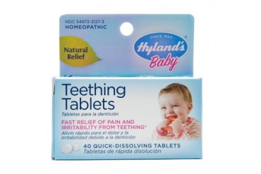 Homeopathic Baby Natural Relief Teething Tablets - 40 Tablets, 2 Pack