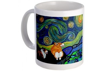 Corgi Starry Starry Night Mug