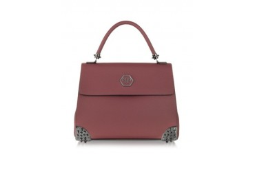 Big Bag Aggressive Burgundy Leather Handbag