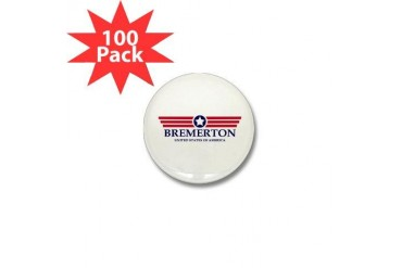 Bremerton Pride Location Mini Button 100 pack by CafePress