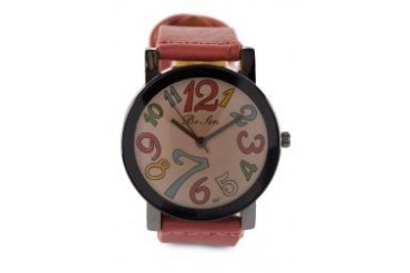 Fourskin Peach Colourful Leather Watch