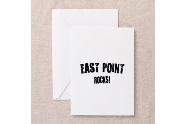 East Point Rocks Georgia Greeting Card by CafePress