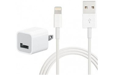 Genuine Apple 5-Watt USB Power Adapter and 3.3ft Lightning to USB Cable