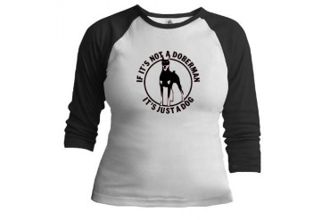 Doberman Pets Jr. Raglan by CafePress
