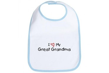 I Love My Great Grandma Family Bib by CafePress
