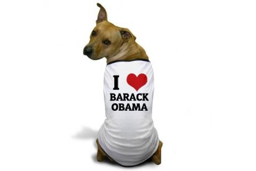 I Love Barack Obama Dog T-Shirt