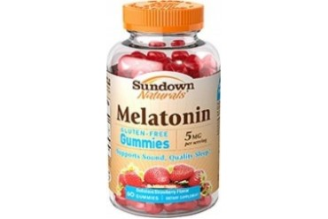 Sundown Naturals Melatonin Gummies 5mg Sealed Bottle
